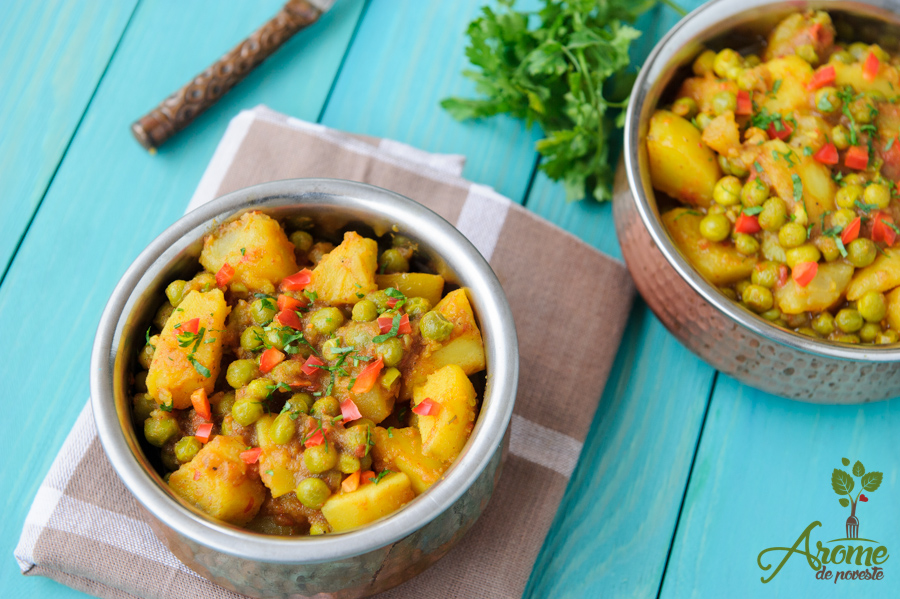 Aloo Matar - Cartofi cu mazare