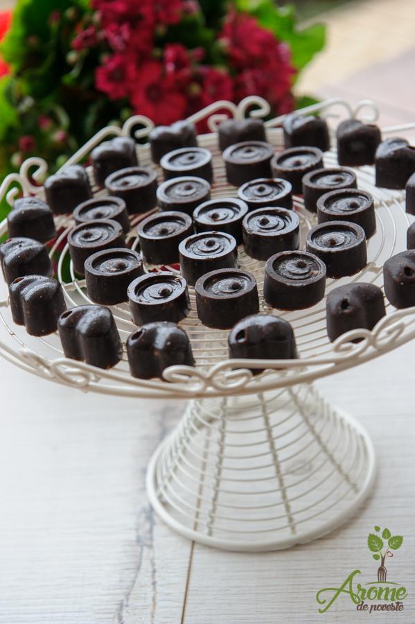 Ciocolata raw vegan cu fistic si nuca