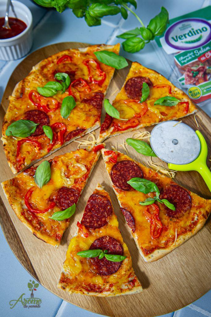 pizza Pepperoni vegana Verdino